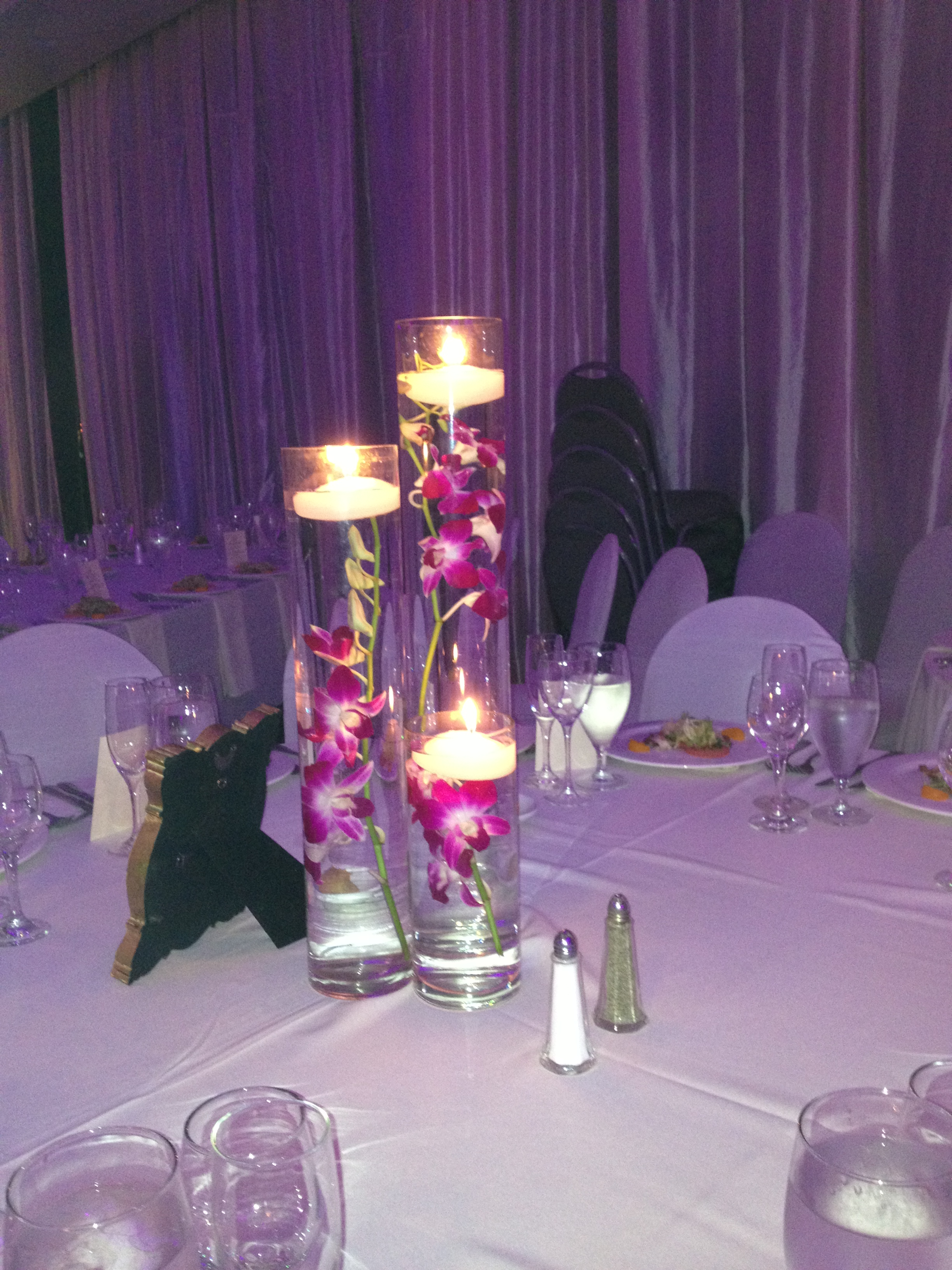 Centerpieces White Ribbon Florist